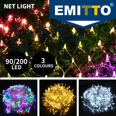 LED String Fairy Lights Net Mesh Curtain Xmas Wedding Party Outdoor 3 Size