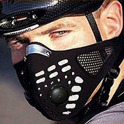 Black Respirator Mask Dust Proof With Filtered Activated Carbon Biking Half Face