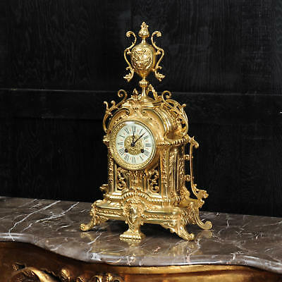 Antique French Gilt Bronze Boudoir Clock by Louis Japy C1880 stunning Clock