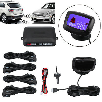 4 Reversing Parking Car Rear Camera Sensors Radar Detector System Kit PZ500 LCD