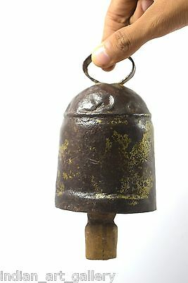 Antique Unique Old Collectible Farm Horse/Cow Iron Big Bell. i9-124