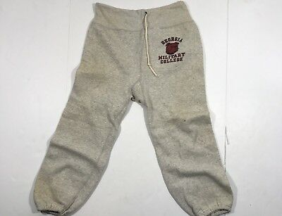 VTG RARE 60's Georgia Military College Sweatpants Sz Medium Drawstring Champion