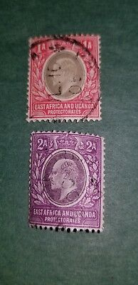 1903 East Africa and Urganda Protectorates Sg#2 & 3used & unused HR