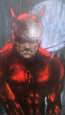 daredevil Original art Simon Bisley ,Kev Walker inspired. DC comics oil on panel