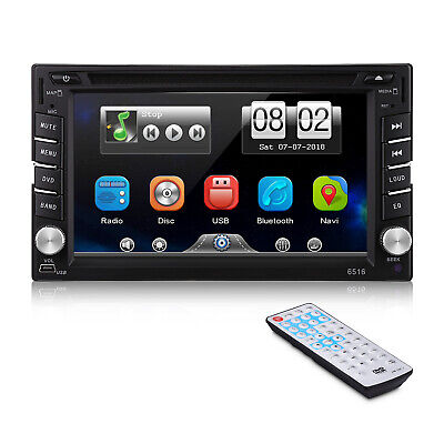 "6.2"" 2 Din Navigatore Autoradio GPS Car Auto Stereo DVD Player MP3 HD CD USB SD"