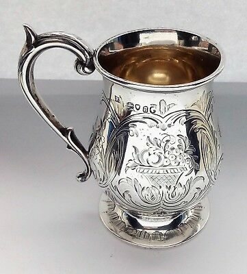 Robert Hennell III Early Victorian Sterling Silver Mug London 1854 Rare 172gs