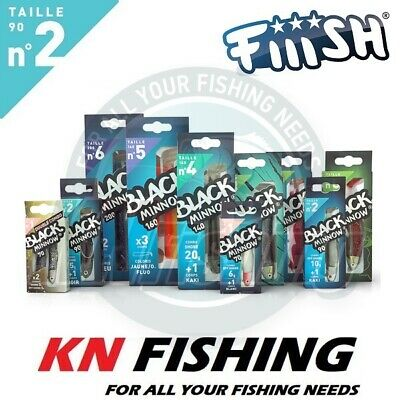 FIIISH_''BLACK MINNOW''_90_No.2_SILICON_LURES_SPINNING_LRF_FISHING