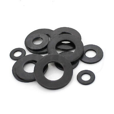 30pcs Carbon Steel Black 8.8 Class Flat Washer for Screw M6/M8/M10/M12