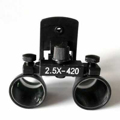 2.5X Dental Medical Binocular Loupes Clip-on Magnifier DY-109 Black UK STOCK