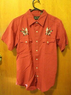 """Vintage Western Shirt (M) """"High Noon"""" Good Cond. Cotton/Poly"""