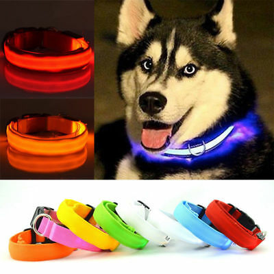 Quality Adjuatable LED Dog Cat Pet Collar Night Safety Bright Flashing Necklace