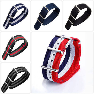 18mm 20mm 22mm Men's Watch Strap Band Nylon Army Military For Divers NATO G10 UK