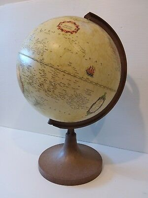 vintage WORLD GLOBE map GREAT CONDITION atlas celestial