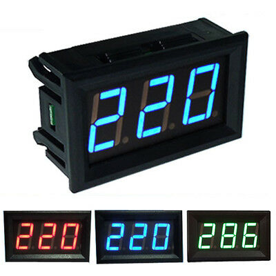 UK AC 70-500V Digital Voltmeter LED Display Panel 2 Wire Volt Voltage Test Meter