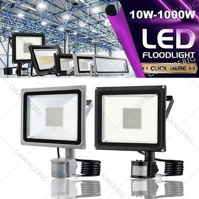 10W 20W 30W 50W 100W LED Flood light PIR Motion Sensor Outdoor Security Light UK