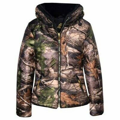 6993ce15ddd40 Girls Jacket Kids Padded Jungle Print Puffer Bubble Fur Collar Quilted Warm  Coat