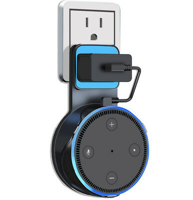 Outlet Wall Mount Holder Bracket Cradle for Amazon Echo Dot 2nd Generation Alexa