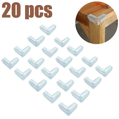 20x Baby Child Safety Guard Clear Desk Edge Soft Protectors Table Corner Cushion