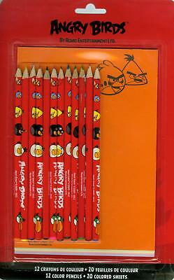 Kit 12 Matite a colori Angry Birds + 20 pagine colorate