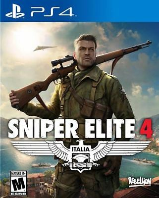 Sniper Elite 4 - Italia WWII World War 2 Action Tactical Shooter PS4 NEW