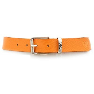 4828V cintura bimbo ARMANI JUNIOR pelle orange vintage leather belt boy kid