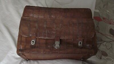 Mappin & Webb Makers London Antique Leather Dr's (?) Bag
