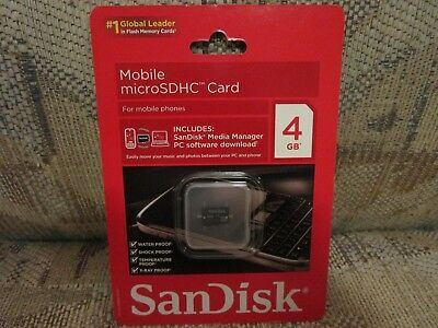 Sandisk  Mobile Micro Sdhc Card  4Gb