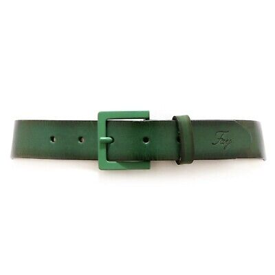 4796V cintura bimbo FAY JUNIOR WITHOUT LABEL green vintage leather belt boy kid