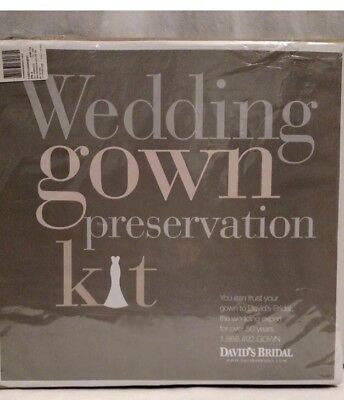 David's Bridal Wedding Gown Dress Preservation Kit $189 Retail