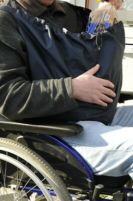 PackaPouch™ Wheelchair bag. Waterproof mobility equipment. Navy Blue.