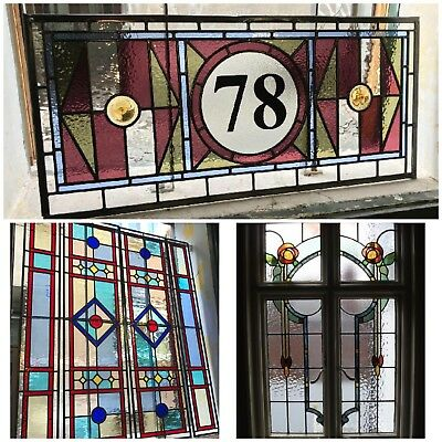 Bespoke stained glass windows for your front door, handmade panels