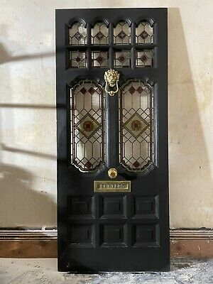 Victorian or contemporary stained glass window door panels, hand made to order