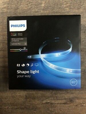 Philips - Hue Lightstrip Plus Dimmable LED Smart Light - Multicolor