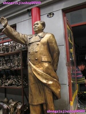 79 Huge China Bronze great cacique Mao Ze Dong chairperson Classical Art statue