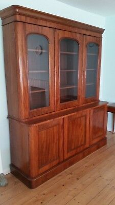 Antique  Sideboard and Display Cabinet, made from Mahogany