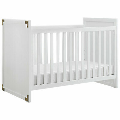 Baby Relax Miles 2-in-1 Convertible Wood Crib - White