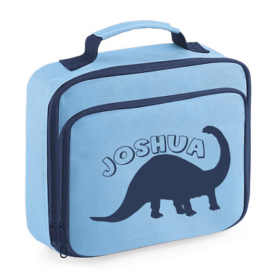 Personalised Name Dinosaur Lunch Box Bag Back to School Bags Custom Bag