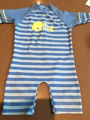 Boots mini club boys all in one/swimsuit/sun suit  9-12 Months