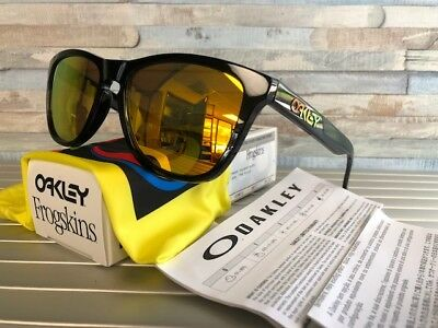 Valentino Rossi OAKLEY FROGSKINS Sunglasses 24-325 Polished Black Fire  Iridium 9f4be2a0a5