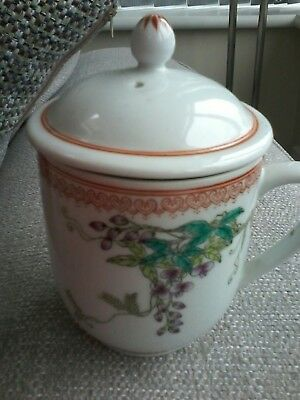 Vintage Chinese Mug With Lid
