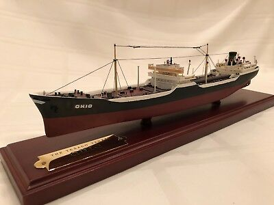 Texaco Oil Tanker Ohio- WWII Model Ship Excellent Condition