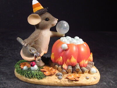 Charming Tails 85/102 BUBBLY BREW Mouse Halloween New Old Stock MIB