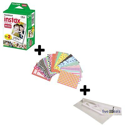 Fujifilm Instax Mini Instant Film 20 Sheets + Bundle for Fuji 8, 9. Liplay, Link