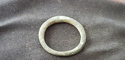 Lovely rare Celtic bronze finger ring not money, Please read Description L102j