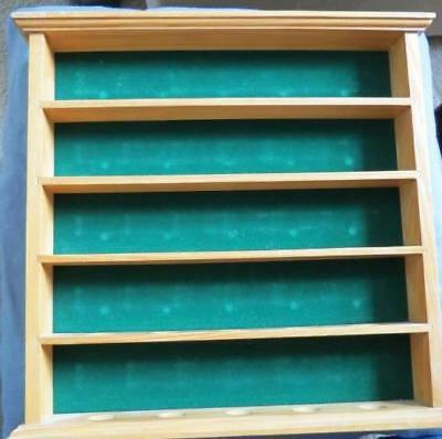 Wooden 25 Golf Ball Display Cabinet Case Rack Wall Mount
