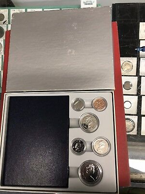 Mint Canadian Proof Set In Plastic Cases With Book And Specifications