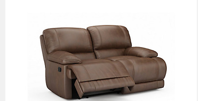Harvey's Guvnor Manual Reclining 3 Seater Sofas Tan Immediate Delivery