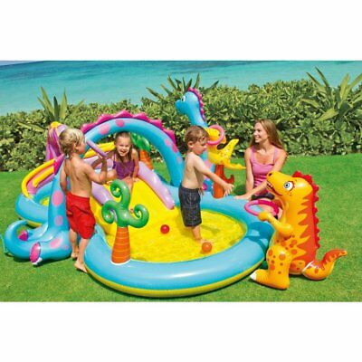 INFLATABLE PLAY CENTER Swimming Pool Kids Water Play Toys Toddler ...