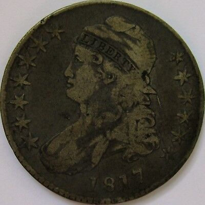 1817 O-111a Lettered Edge Capped Bust Half Dollar - Fine
