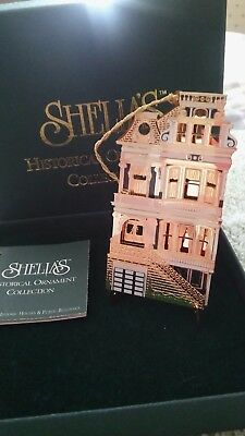 Shelia's Historical Ornament-1995 First Edition-Eclectic Blue OR004 Box/Stand